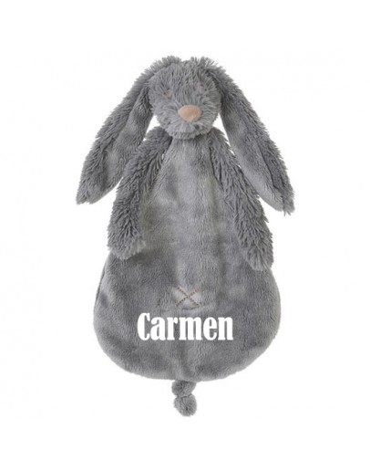 Happy horse Rabbit Richie Tuttle  Deep Grey met naam bedrukt