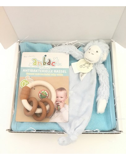 Kraamkado Kiekebox Happy Horse Monkey Mickey Tuttle Blauw