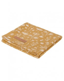 Little Dutch Swaddle doek Wild Flowers Ocher 70 x 70 cm