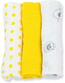 Lulujo inbakerdoek (swaddle) - Sunshine yellow 3-pack medium