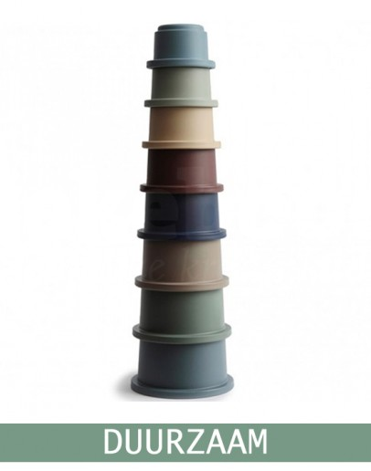 Mushie Stapeltoren Stacking Cups Forest