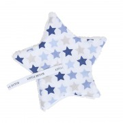 Little Dutch Speendoekje Mixed Stars Blue met naam